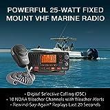 Cobra MR F57B Fixed Mount VHF Marine Radio – 25