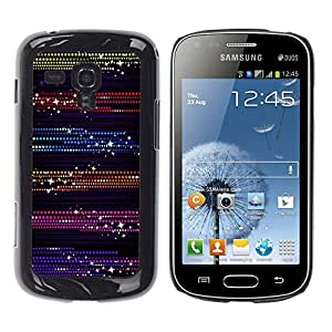 Design for Girls Plastic Cover Case FOR Samsung Galaxy S Duos S7562 Dots Glitter Purple Black OBBA
