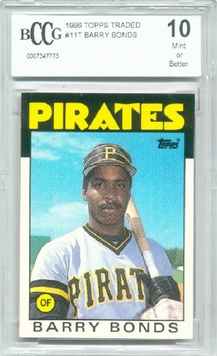 Bonds Barry Topps Traded 1986 - 1986 Topps Traded #11T Barry Bonds Rookie Graded BCCG 10