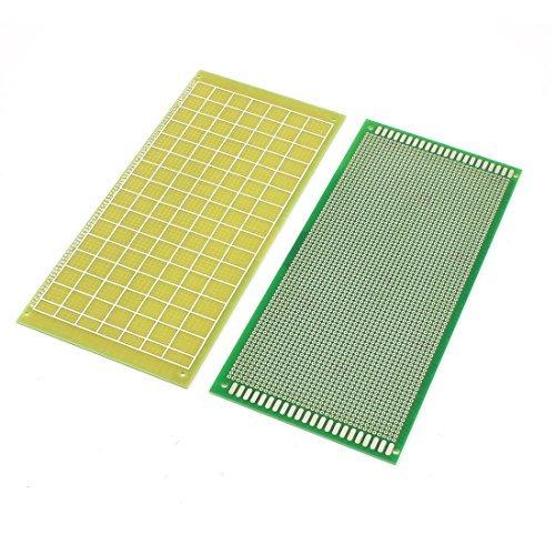 eDealMax electrnica DIY Papel Placa de pruebas de PCB de un lado 10cm x 22cm 2pcs
