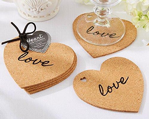 50 Sets of 4 - Heart Cork ()