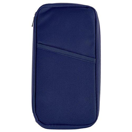 ASAB - Cartera de mano para hombre negro negro 23 x 12cm, rosa (negro) - AS-09494 azul