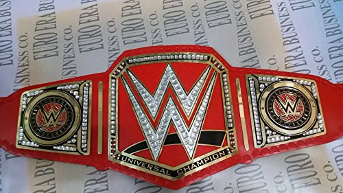 WWE Universal Champion Belt Adult Replica, Metal Changeable Side Plates & Bag
