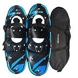 FLASHTEK 21 Snowshoes for Men and Women, Light Weight Aluminum Terrain Snowshoes + Free Carrying Tote Bag (Blue)