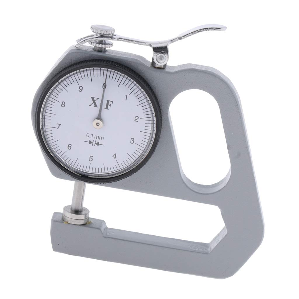 Almencla 0-10mm Thickness Gauge Tester Leather Craft Leathercraft Tools 0.1mm