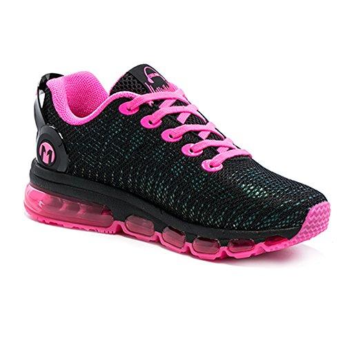 Yidiar Kvinners Atletisk Trail Luftpute Joggesko Veien Jogging Joggesko Sort / Rosa