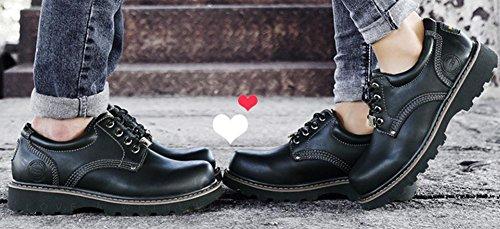 Swnx A Black De 45 Martin 40 Estilo Caucho Zapatos Derby Para Casuales Black Británico tamaño Negro Hombres 39 45 Seguridad Trainers Cordones Cuero TT5rx1qwp