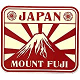 レトロデザイン トラベルステッカー 日本 富士山 JAPAN Mt.Fuji 防水紙シール スーツケースなどの目印に