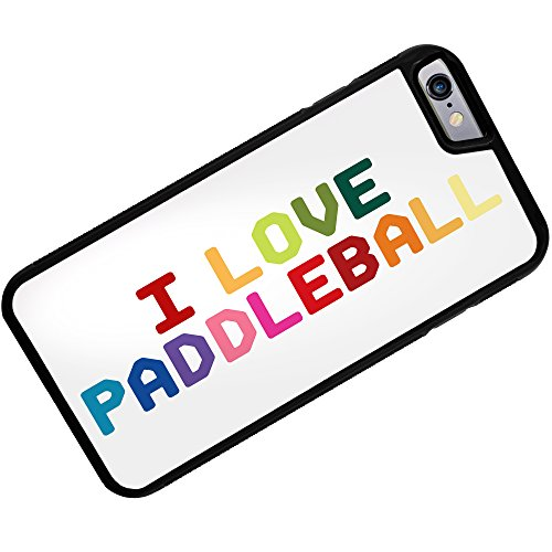 Case for iPhone 6 Plus I Love Paddleball,Colorful - (Paddleball Case)