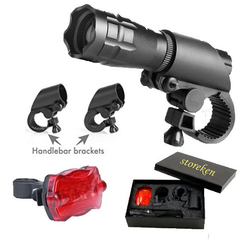 storeken Bike Light Headlight and Taillight-Water Resistant Cycling Safety Flashlight Bright LED Lights for Bicycle