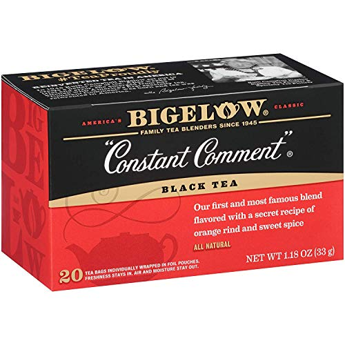 Bigelow Constant Comment Tea 20-Count Boxes (Pack of 6), 120 Tea Bags Total. Caffeinated Individual Black Tea Bags, for Hot Tea or Iced Tea, Drink Plain or Sweetened