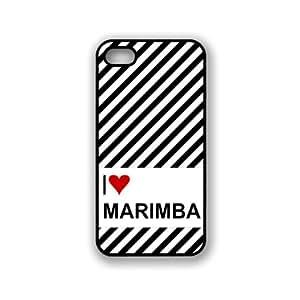 Love Heart Marimba iPhone 5 & 5S Case - Fits iPhone 5 & 5S