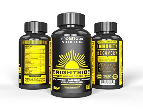 IMMUNE SYSTEM SUPPORT EXTRA-STRENGTH | NON-GMO Antioxidant Health Wellness Formula | Vitamin C, Turmeric, Mushroom Complex, Ginseng, Olive Leaf, Garlic, Pomegranate, Raspberry and more | 60 Caps