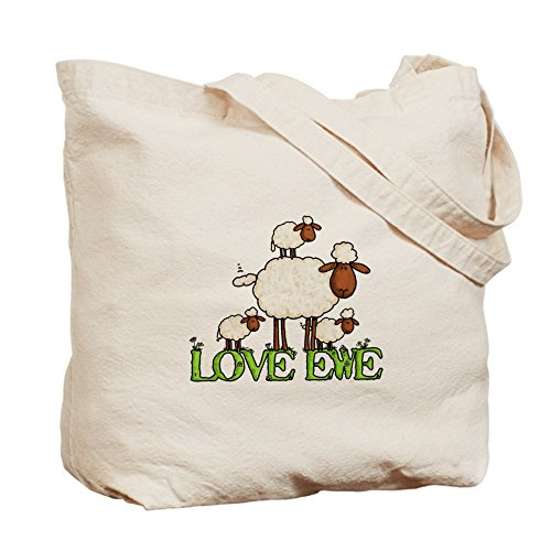 Cafepress–Love Ewe–Borsa di tela naturale, tessuto in iuta
