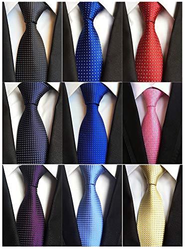 Mens Accessories Silk - Adulove Men's Necktie Classic Silk Tie Woven Jacquard Neck Ties 6/9 / 12 PCS