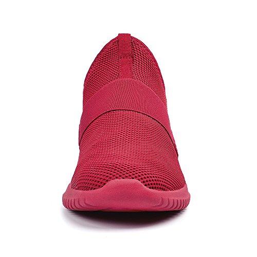 Rosso Esterno Uomo Scarpe Sportive Slip Corsa Scarpe Senza On Lacci da da QANSI qRZz7n