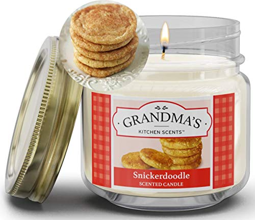 Snickerdoodle Scented Soy Candles | 8 oz Jar | Hand Made in The USA | Delicious Scent | Extra Clean Burning and Long-Lasting Soy Candle