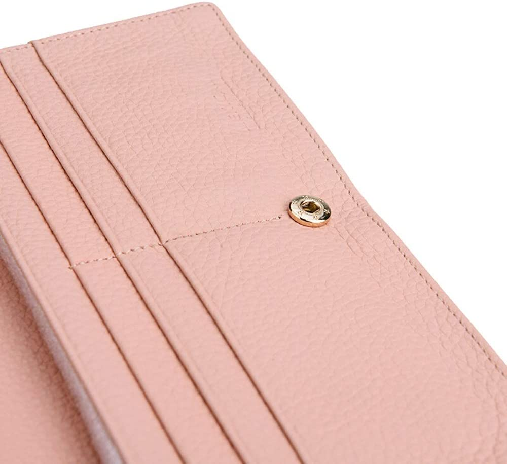YONGMEI Wallet Color : Black Wallet Leather Long Casual Bag Backpack