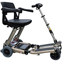 Free Rider USA - Luggie Deluxe - Folding Mobility Scooter - 4-Wheel - Champagne - PHILLIPS POWER PACKAGE TM - TO $500 VALUE