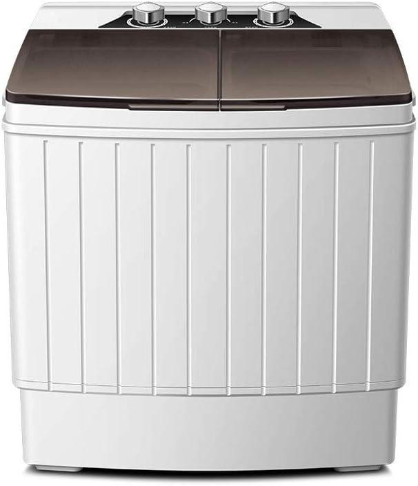 RMXMY Lavadora portátil Compacto Mini Doble Tina con Secadora, pequeño y Ligero de lavandería Lavadora for Apartamentos, Dormitorio Las Habitaciones, 550 * 365 * 622 mm