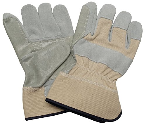 Condor Leather Gloves - Condor 5NGP9 Double Leather Palm Gloves, Size XL, Cowhide, Lined, Pack of 12 Pair