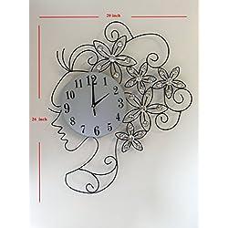 MEIDA Metal wall clock Crystals (lady)