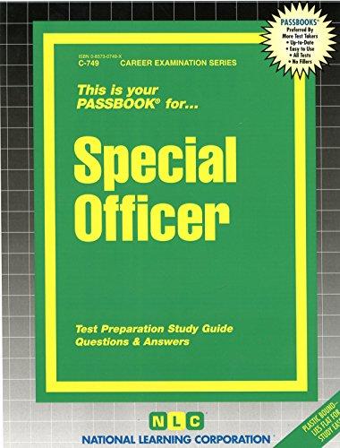 Special Officer(Passbooks) (Career Examination Passbooks)