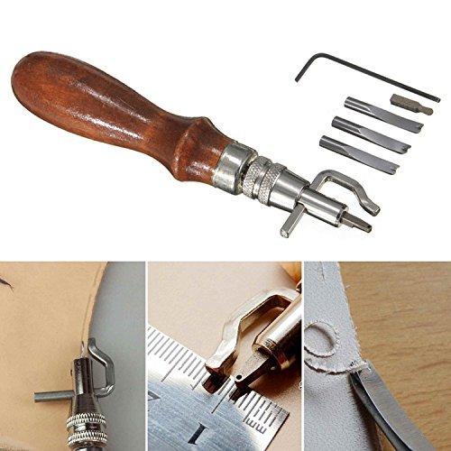 4 opinioni per Dealglad®, set di attrezzi 7 in 1 per lavorazione del cuoio fai da te, attrezzo
