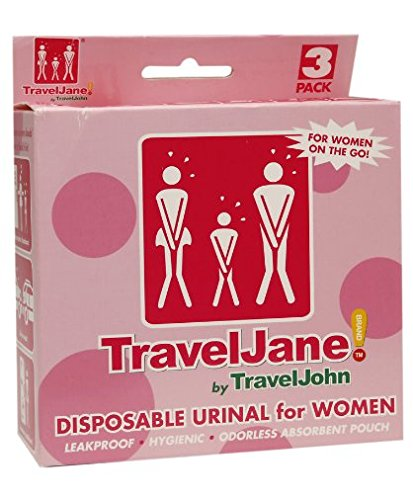 TravelJane Disposable Urinal for Women by TravelJohn - (Pack of 2)