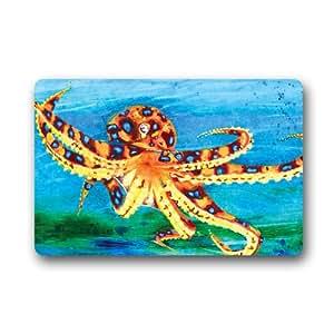 """Art Painting Octopus Customized Outdoor and Indoor Art Printing Door Mat 25.6""""x 15.7"""""""