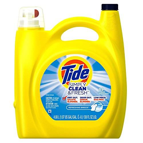 Tide Simple Clean Fresh Liquid Laundry Detergent, 138 Ounce (4.08 L), Refreshing Breeze (5pack 138 Ounce) by Tide