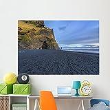 Wallmonkeys WM361240 The Black Sand Beach of Reynisfjara Wall Decal Peel and Stick Graphic (72 in W x 48 in H)