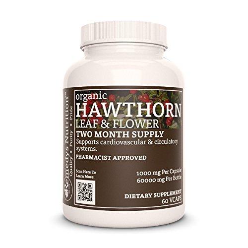 Hawthorne Leaf & Flower (Crataegus) Remedys Nutrition MEGA STRENGTH 1,000 mg per capsule/ 2,000 mg daily/ 60,000 mg per bottle Organic Vegan VCaps