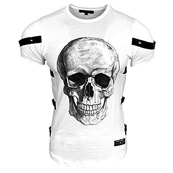 Rusty Neal Herren T-Shirt Rundhals Totenkopf Skull