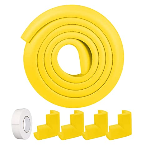 Safety Corner Protectors Guards /& Edge Set Table Corner Guards for Child and Baby Proofing Yellow 4Pcs Corner Guard with Strong Adhesive