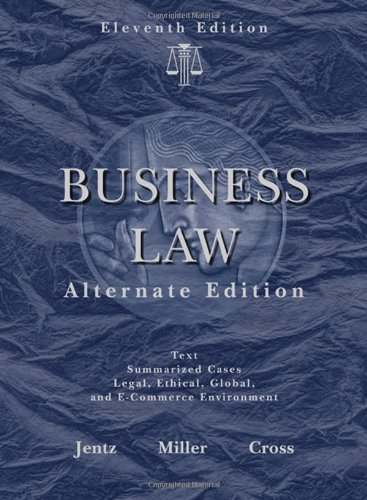 Business Law, Alternate Edition (Available Titles CengageNOW)