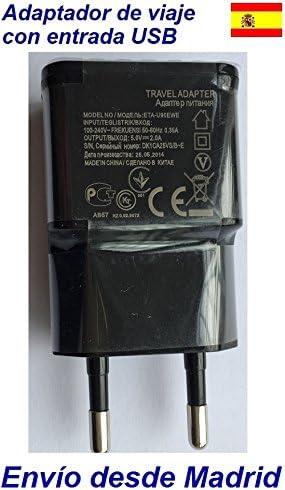 Adaptador de viaje Europeo España con entrada USB: Amazon.es ...