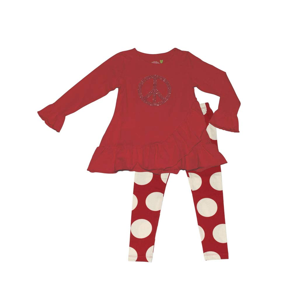Three Friends Apparel Kids Tunic Top with Dot Leggings