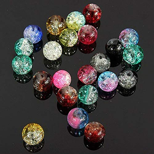 (Accessories Crystal Craft Tool Glass DIY 100Pcs Crack Crystal Colorful Beads)