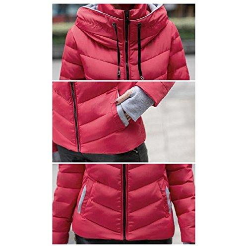 mujeres abrigo gruesa adelgazan chaqueta de Rojo nuevas R acolchada L coreanas invierno SODIAL acolchada caliente AXwgxqRS