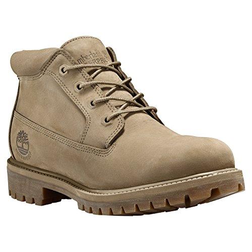 Men's Timberland Premium Waterproof Chukka Boots Tan Nubuck Size 8 M US (Premium Waterproof Chukka)