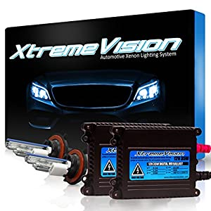 XtremeVision 35W HID Xenon Conversion Kit with Premium Slim Ballast - H13/9008 6000K - Light Blue - 2 Year Warranty
