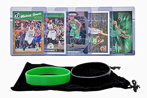 Marcus Smart Basketball Cards Assorted (5) Bundle - Boston Celtics Trading Card Gift ()