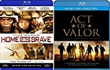 Home of the Brave + Act of Valor Blu Ray 2 Pack War Movie Action Set