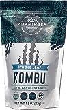 VITAMINSEA Organic Kombu Sugar Kelp - Whole Leaf - 1.5 oz / 42.5 G Maine Coast Seaweed - USDA & Vegan Certified - Kosher - Keto or Paleo Diets - Atlantic Ocean (KWL1.5)