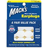 Mack's Pillow Soft Silicone Earplugs - 6 Pair, Value Pack – The Original Moldable Silicone Putty Ear Plugs for Sleeping, Snoring, Swimming, Travel, Concerts and Studying
