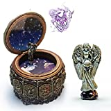 HANYI Vintage Mechanical Classical Collectible Translucidus Music Box with Twelve constellations, Plays Castle in the Sky - Cancer