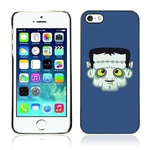 CQ Tech Phone Accessory: Carcasa Trasera Rigida Aluminio PARA Apple iPhone 5 5S - Funny Frankenstein Illustration