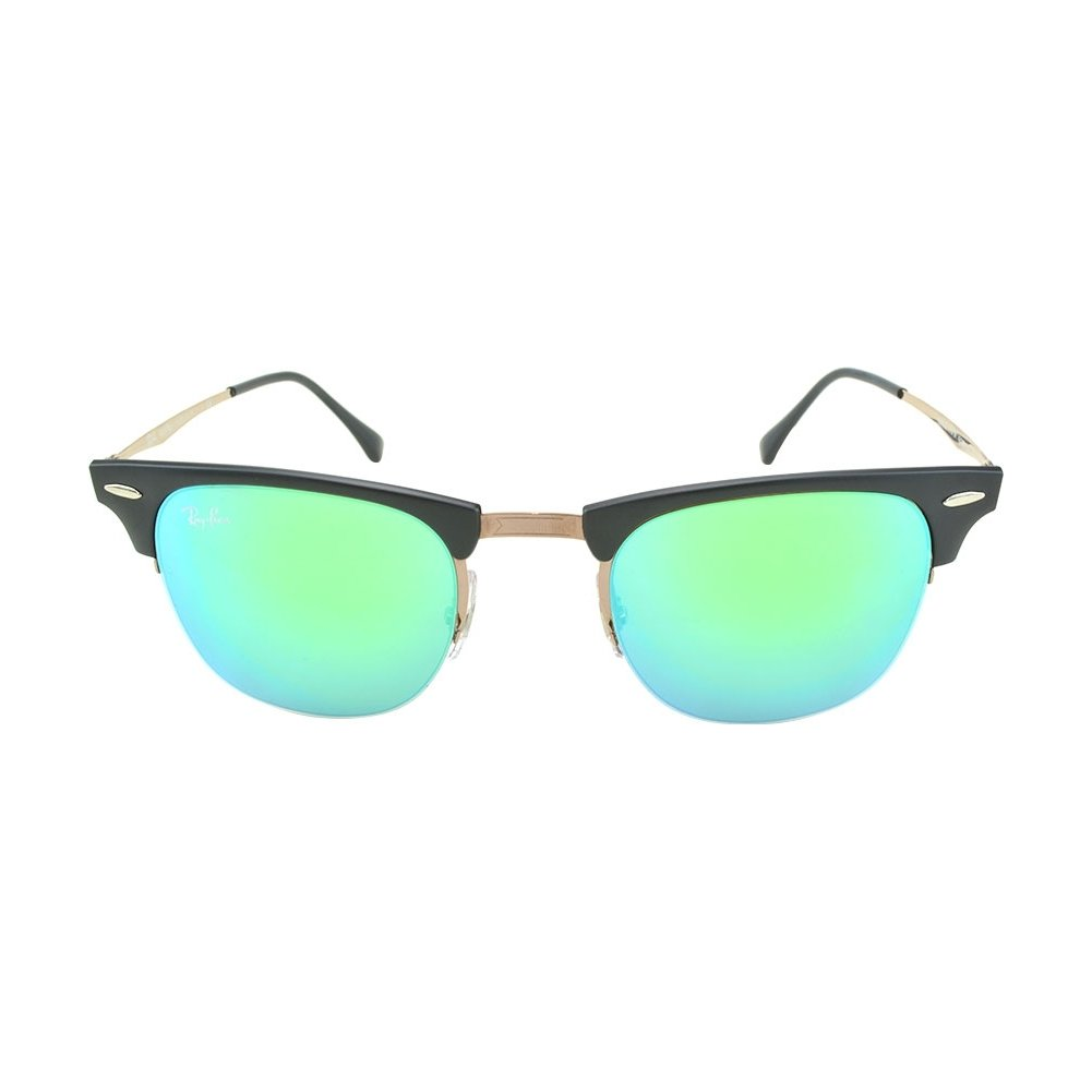 39f980b27a Amazon.com  Ray-Ban RB8056 - 176 3R Sunglasses Black Brown w  Green Mirror  49mm  Clothing