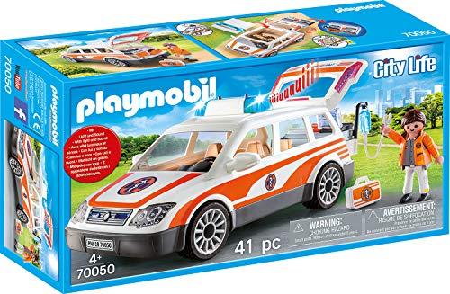 PLAYMOBIL City Life 70050 Notarzt-PKW mit Licht und Sound, Ab 4 Jahren 1